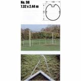 Ворота футбольные алюминиевые 98