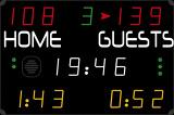Компактное универсальное табло для игровых видов спорта (17 цифр в 4 цветах)