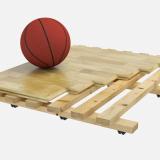 Пол спортивный паркетный серии 1002 - сертификат FIBA