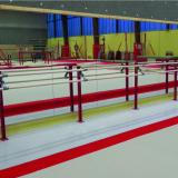 Стойка для хореографического станка для крепления к полу с двумя жердями