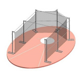 Cектор мобильный для метания диска из алюминия стали