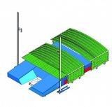 Ангар защитный типа Standard для места приземления для прыжков в высоту