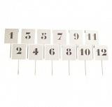 Таблички-маркеры для обозначения дистанции при толкании, комплект из 12 штук