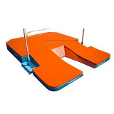 Место приземления для прыжков с шестом, модель Athena 2. Сертификат IAAF.