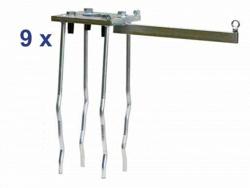 Комплект анкерных болтов защитной клетки для метания диска. Сертификат IAAF