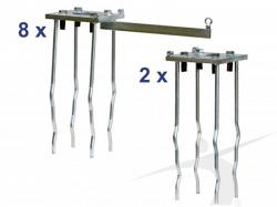 Набор анкеров для клетки по метанию молота. Сертификат IAAF