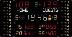 Универсальное табло для игровых видов спорта, модель 452 MF 3023