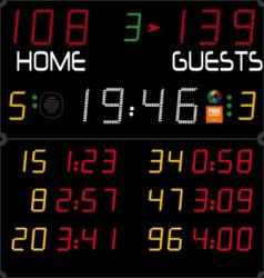 Универсальное табло для игровых видов спорта, модель 452 MB 3004