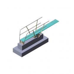 Основание трамплина для прыжков в воду с поручнями