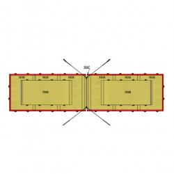 Комплект матов зоны приземления для перекладины