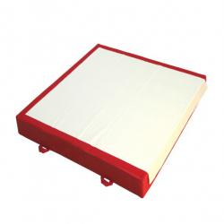 Мат зоны приземления 200x230x20 см для бревна, брусьев и перекладины. Соединительный фартук велкро по стороне 230 см - Сертификат FIG