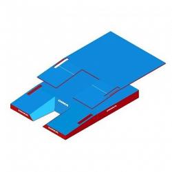 Место приземления для прыжков с шестом, модель International comfort plus single cover. Сертификат IAAF.