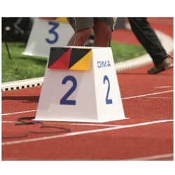 Тумба-маркер для обозначения номера дорожки
