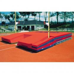 Зона для приземления для прыжков с шестом, сертифицирована IAAF ZT